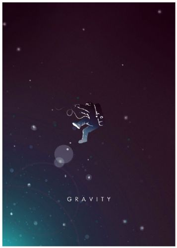 2010's Movie - GRAVITY - ALTERNATIVE POSTER canvas print - self adhesive poster - photo print